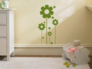 samolepky na zeď dekorace květiny